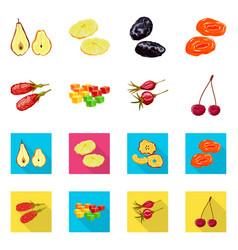 Design food and raw logo set food vector