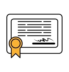 Diploma certificate graduation isolated icon vector