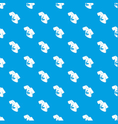 dirty tshirt pattern seamless blue vector image