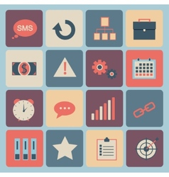 Flat design - icons set vector image
