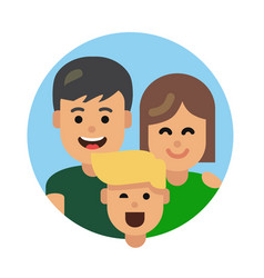 Flat family icon vector