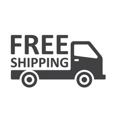 Free shipping truck on white background vector
