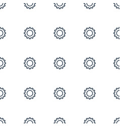 Gear icon pattern seamless white background vector
