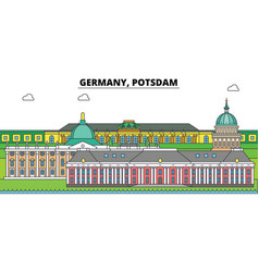 germany postdam city skyline architecture vector image