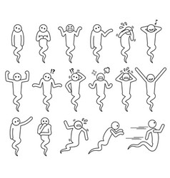 Ghost basic poses and postures set icons vector