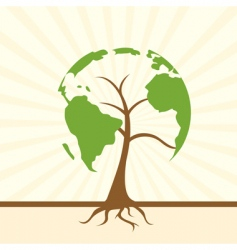 global tree vector image