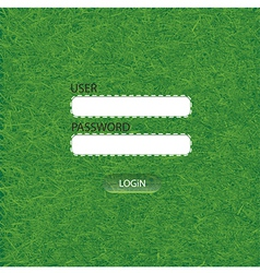 Grass login Web Elements vector