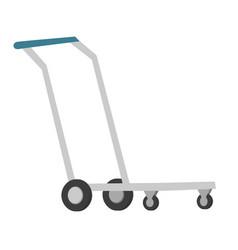 hand platform cart cartoon vector image