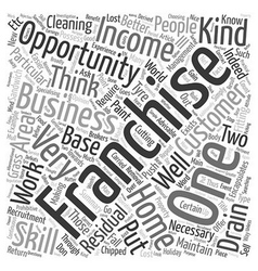 Home Franchise Opportunity Which Business Is vector