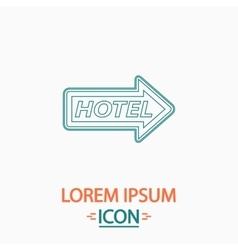 Hotel computer symbol vector