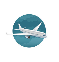 Icon of airplane side view vector