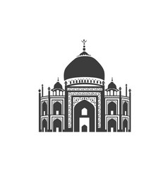 icon of taj mahal vector image