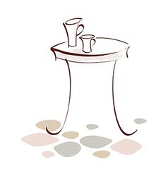 Icon table vector