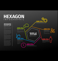 infographic thin line hexagon template vector image
