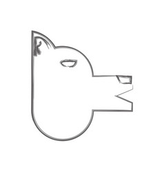 Isolated dog avatar vector