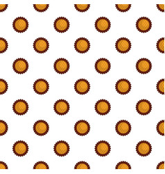 Jam biscuit pattern seamless vector