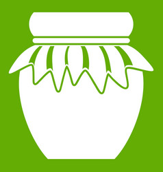 jam in glass jar icon green vector image