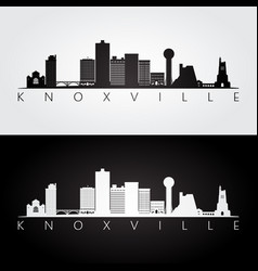knoxville usa skyline and landmarks silhouette vector image