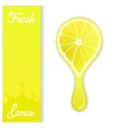 Lemon crush juice vector