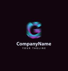 letter g modern wave line logo design template vector image