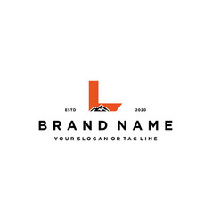Letter l mountain logo design concept vector