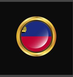 Liechtenstein flag golden button vector