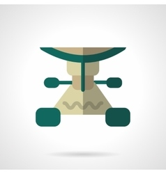 Longboard part flat color icon vector
