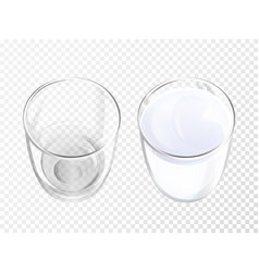 milk glass realistic crockery vector image