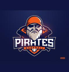 Modern professional emblem pirates for baseball vector
