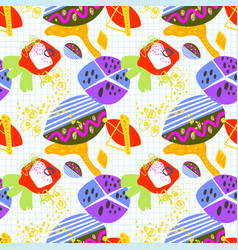 modern trendy seamless pattern abstract bright vector image