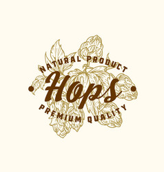 natural hops abstract sign symbol or logo vector image