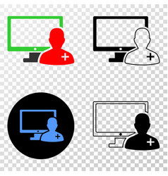 online doctor eps icon with contour version vector image