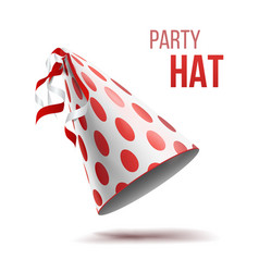 party hat holidays decorative accessory vector image
