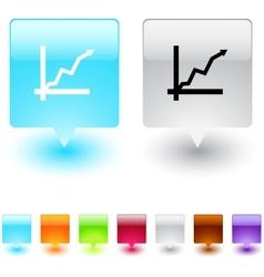 positive trend square button vector image