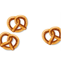pretzel on white background realistic vector image