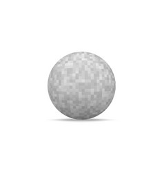 realistic ball shape with pixelated texture vector image