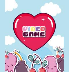 retro videogames cartoons vector image