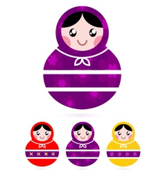 Russian matryoshka dolls vector