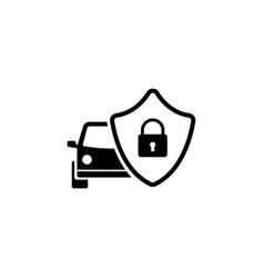 safe car shield flat icon vector image