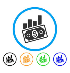 sales bar chart rounded icon vector image