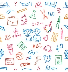 Seamless pattern doodles elements vector