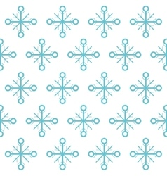 Snowflake background of Christmas season design vector