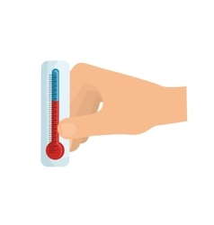 Thermometer temperature scale vector