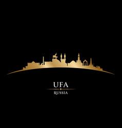 Ufa russia city silhouette black background vector