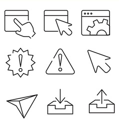 Web interface icons vector