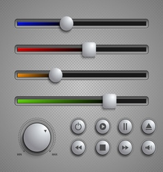 Web user elements silders and buttons template vector