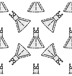 Wedding flat pattern vector image
