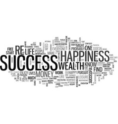 What is success anyway text word cloud concept vector