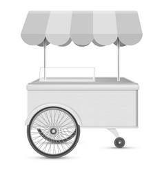 Wheel kiosk mockup realistic style vector