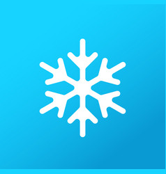 white snowflake on gradient background icon vector image